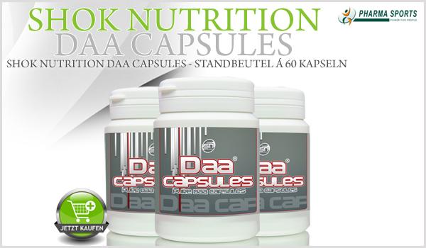 Shok Nutrition DAA Capsules als nächstes neues Supplement bei Pharmasports