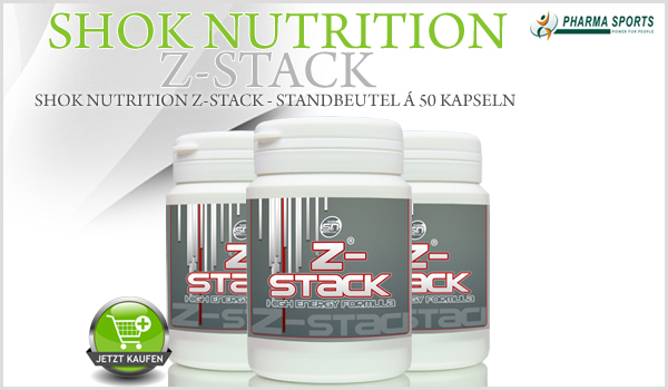 Shok Nutrition Z-Stack ab sofort bei Pharmasports erhältlich!