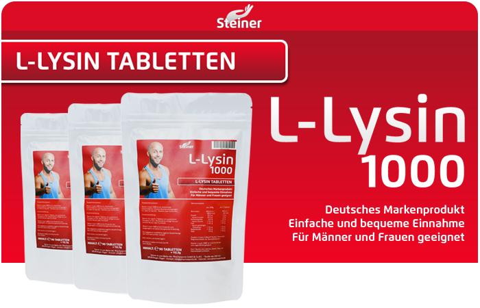 Steiner L-Lysin 1000 ab sofort wieder bei Pharmasports erhältlich!