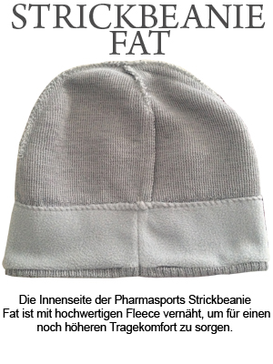 Pharmasports Strickbeanie Fat mit Fleece gefüttert