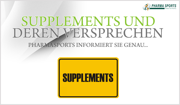 Supplements und deren Versprechen