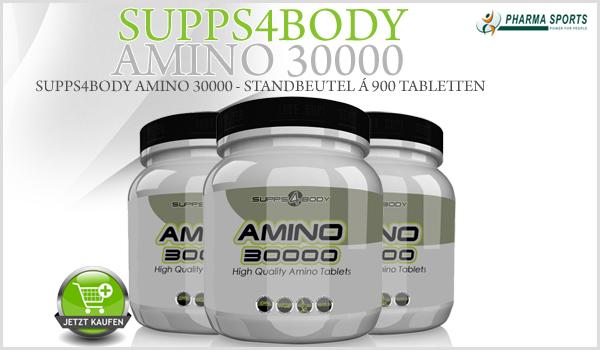 Supps4Body Amino 30000 neu bei Pharmasports in der Aminosäure-Auswahl