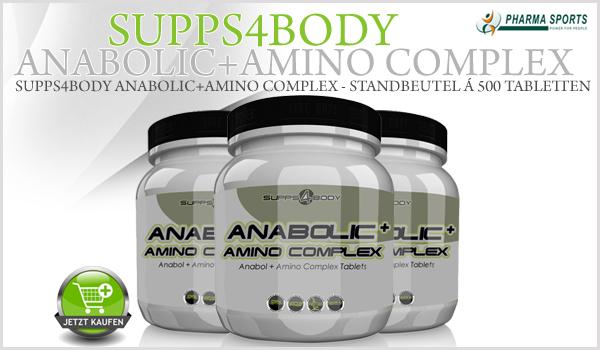 Neu, Neu, Neu! Ab sofort Supps4Body Anabol + Amino Complex bei Pharmasports