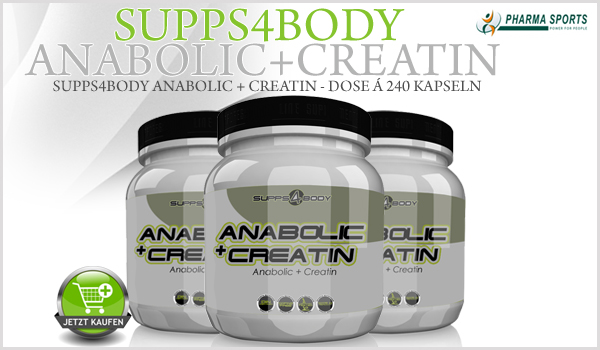 Supps4Body Anabolic + Creatin ab sofort bei Pharmasports