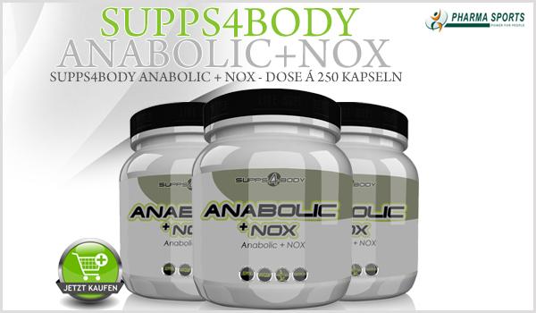 Neu bei Pharmasports - 250 Kapseln Supps4Body Anabolic + NOX