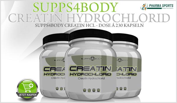 Das nächste Supps4Body Produkt bei uns - Supps4Body Creatin HCL