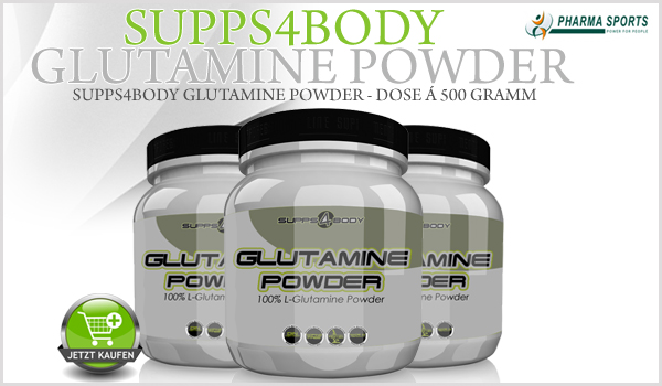 Neues Glutamin Produkt bei Pharmasports - Supps4Body Glutamine Powder