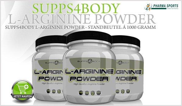 NEU bei Pharmasports – Supps4Body L-Arginine Powder