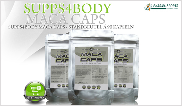 NEU im Sortiment bei Pharmasports - Supps4Body Maca Caps