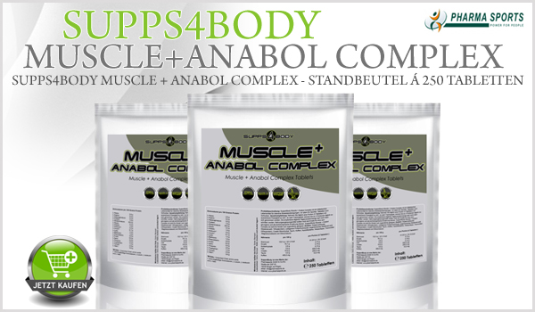 Supps4Body Muscle + Anabol Complex - Standbeutel á 250