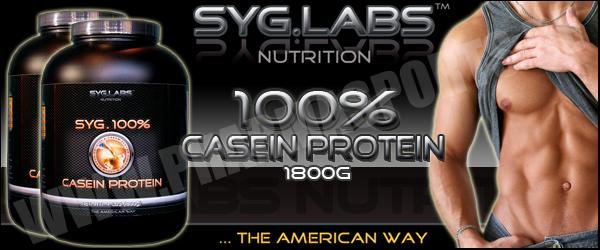SygLabs 100% Casein Protein zum Muskelaufbau