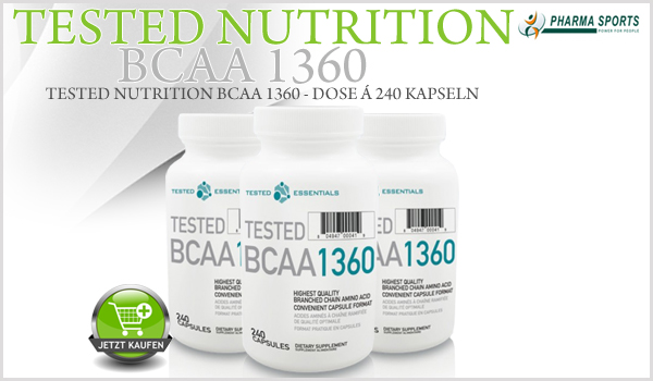Tested Nutrition BCAA 1360 ab sofort bei Pharmasports