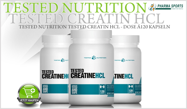 Das nächste Tested Supplement bei Pharmasports - Tested Nutrition Creatin HCL!