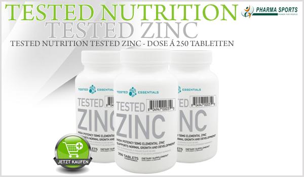 Tested Nutrition Tested Zinc – hochwertiges Zinkgluconat bei Pharmasports