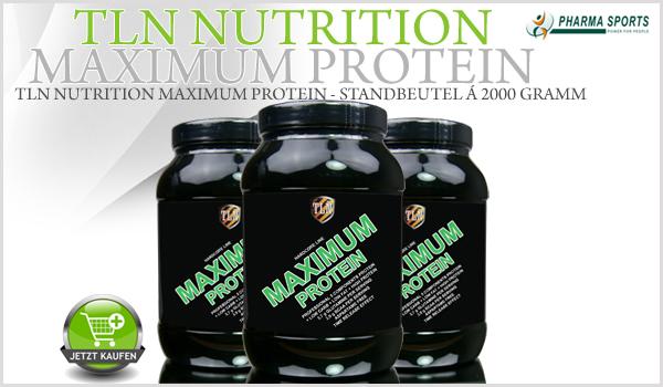 Neu im Sortiment bei Pharmasports: TLN Nutrition Maximum Protein