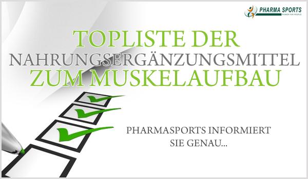 Die Topliste der Nahrungsergänzungsmittel für den Muskelaufbau