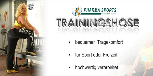 Trainingshose von Pharmasports für Frau und Mann