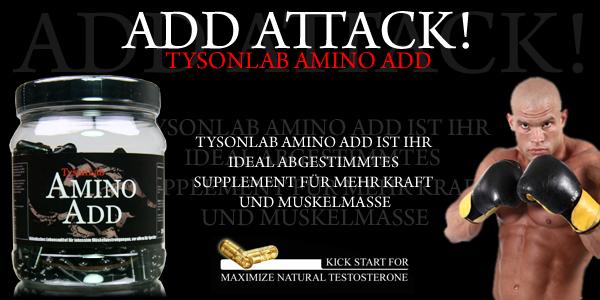 TysonLab Amino Add für starke Muskelaufbau-Ergebnisse