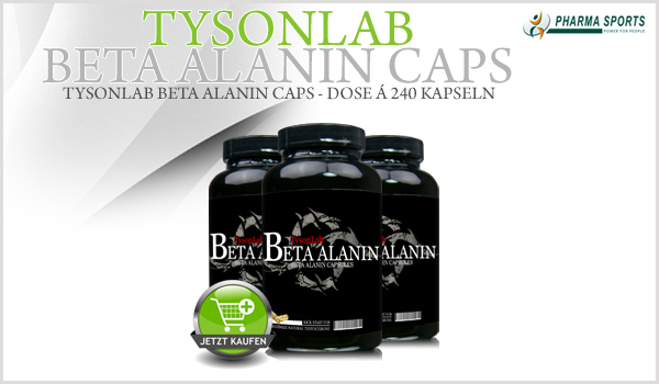 TysonLab Beta Alanin - Dose á 240 Kapseln bei Pharmasports