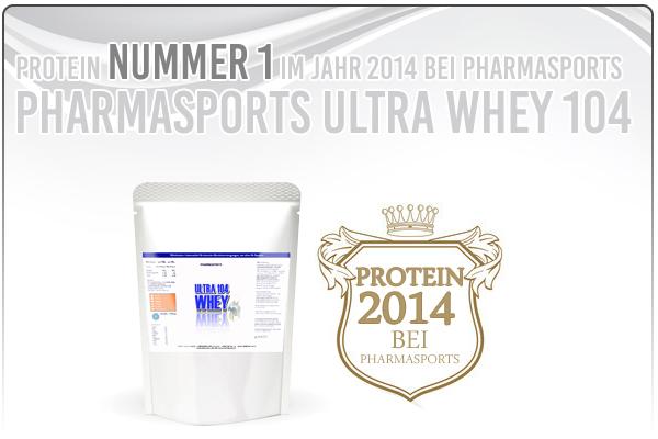 Protein des Jahres 2014 bei Pharmasports - Pharmasports Ultra Whey 104