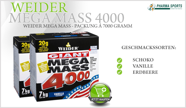 Weider Mega Mass 4000 bei Pharmasports