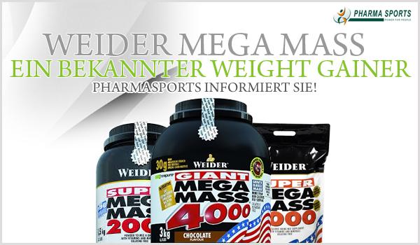 Weider Mega Mass - seit vielen Jahren einer der beliebtesten Weight Gainer