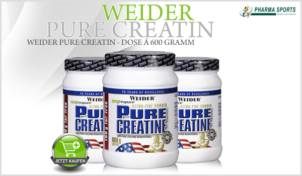 Weider Pure Creatin nun auch bei Pharmasports
