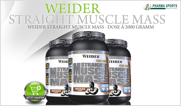 Weider Straight Muscle Mass ab sofort bei Pharmasports!