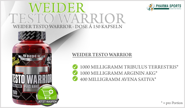 Weider Testo Warrior - brandneues Pre-Workout Supplement von Weider