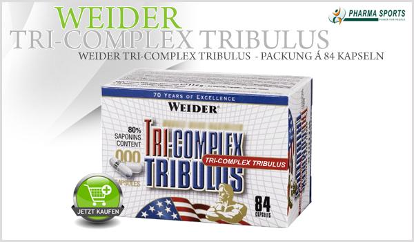 Das neue Tri-Complex Tribulus aus dem Hause Weider jetzt auch bei Pharmasports