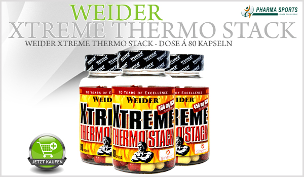 Weider Xtreme Thermo Stack ebenfalls neu bei Pharmasports