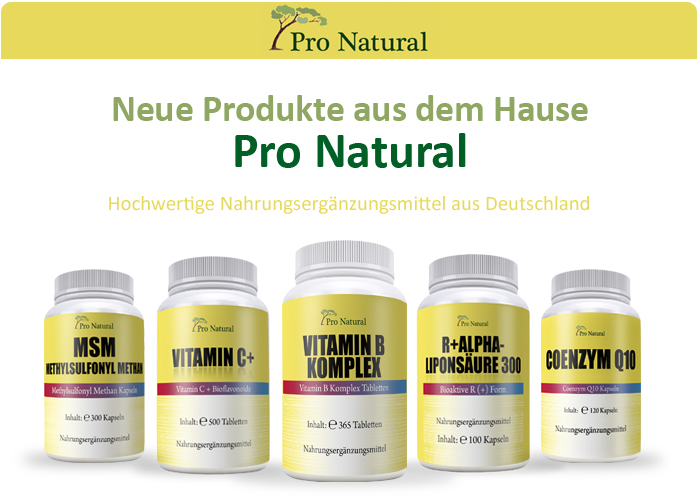 Neues Vitamin-Sortiment von Pro Natural